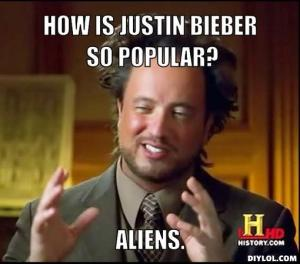 I don't like Bieber's music, but I will admit that it can be catchy and that sometimes mockery can go too far.